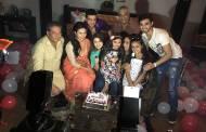 Ruhaanika Dhawan's birthday celebration on YHM sets!
