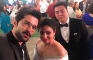 Television actors attend Benaf Dadachandji's wedding reception