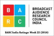 BARC India Ratings: Week 22 (2016)