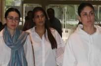 Karisma, Kareena attend Vikram Phadnis