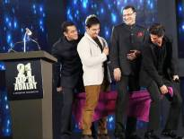 Salman Khan, Aamir Khan, Rajat Sharma and Shah Rukh Khan