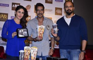 Ajay Devgan,Kareena Kapoor and Director Rohit Shetty