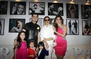 Daboo Ratnani and family with Rekha