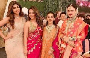 Celeb galore at Eisha Ambani and Anand Parimal's wedding ceremony