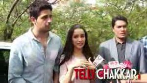 On the sets of CID with Ek Villain couple Sidharth-Shraddha