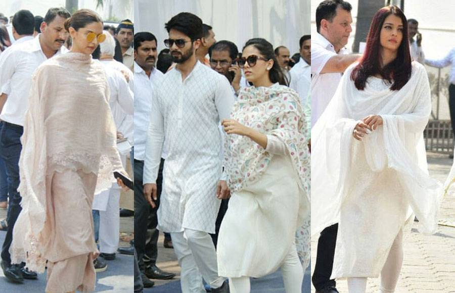 B-Town pays their last respect to Sridevi at her funeral
