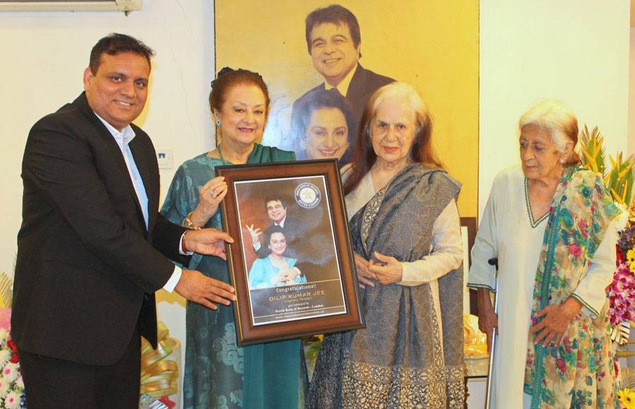 Legendary Dilip Kumar gets felicitated by World Book of Records-London